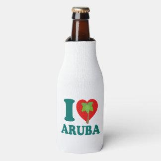 Porta-garrafa Eu amo a palmeira de Aruba