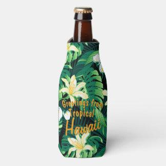 Porta-garrafa Floral luxúria tropical