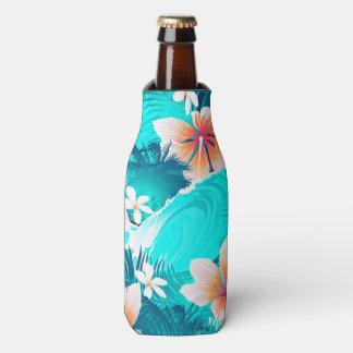 Porta-garrafa Flores do hibiscus na praia