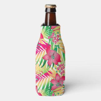 Porta-garrafa Flores tropicais coloridas