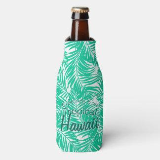 Porta-garrafa Folhas de palmeira verdes tropicais