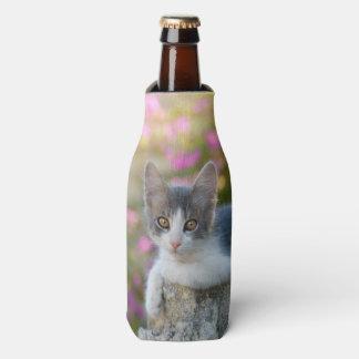 Porta-garrafa Garrafa-Jaqueta macia do gato da foto do gatinho