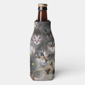 Porta-garrafa Gatos e gatinhos em uma colagem colorida do gato,