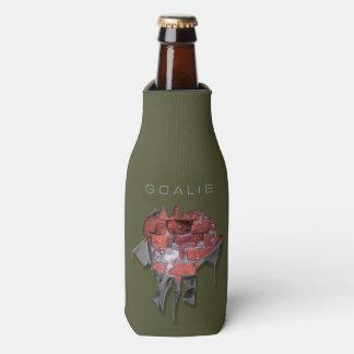 Porta-garrafa Goalie rasgado da parede de tijolo (hóquei)
