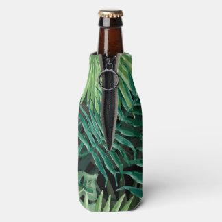 Porta-garrafa Grande palma de samambaia verde e plantas