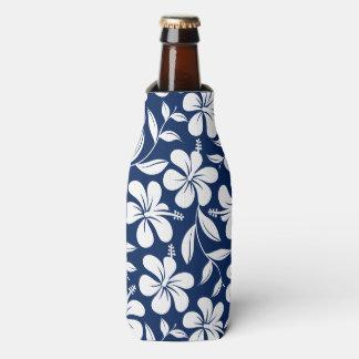 Porta-garrafa Hibiscus azul & branco