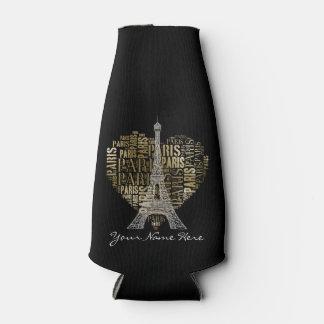 Porta-garrafa Inscrição Paris do ouro da torre Eiffel | no