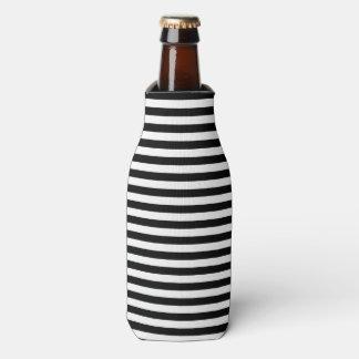 Porta-garrafa Listra náutica clássica preto e branco
