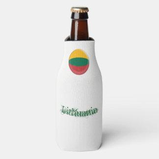 Porta-garrafa Lithuania, bandeira verde & amarela vermelha