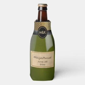 Porta-garrafa Mini Champagne que Wedding o refrigerador da