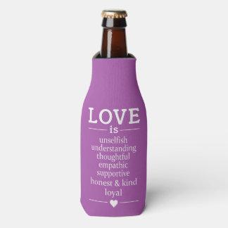 Porta-garrafa O amor é… refrigerador nomes, data & da garrafa