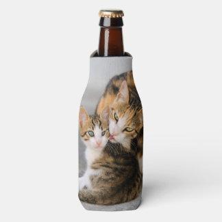Porta-garrafa O gato da mãe ama a foto bonito do animal do