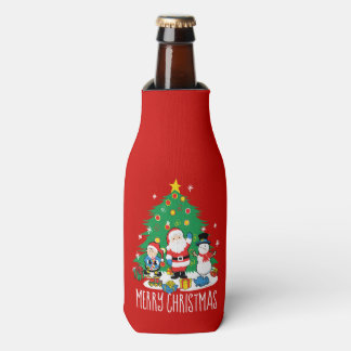 Porta-garrafa Os amigos do papai noel