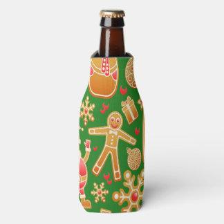 Porta-garrafa Papai noel e pão-de-espécie festivos do boneco de
