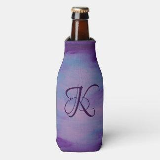 Porta-garrafa Pastel cor-de-rosa azul roxo   do monograma