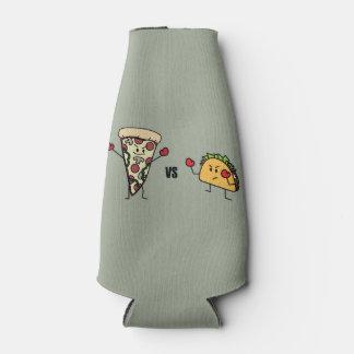 Porta-garrafa Pizza de Pepperoni CONTRA o Taco: Mexicano contra