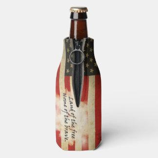 Porta-garrafa Podem os refrigeradores/bandeira americana/terra