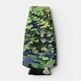 Porta-garrafa Pop art abstrato da folha em verde e no azul