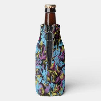 Porta-garrafa Redemoinhos do abstrato de azul cor-de-rosa