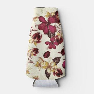 Porta-garrafa Refrigerador da garrafa: arte floral do vintage