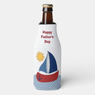 Porta-garrafa Refrigerador da garrafa do dia dos pais do veleiro