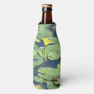 Porta-garrafa Refrigerador da garrafa do lírio de água amarela