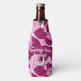 Porta-garrafa Rosa tropical floral manchado