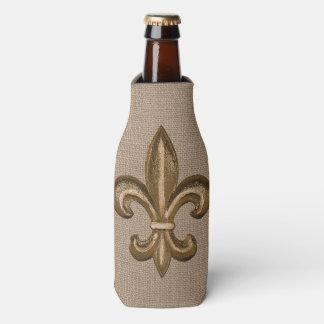 Porta-garrafa Serapilheira francesa do falso da flor de lis do