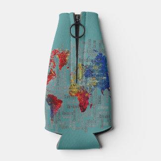 Porta-garrafa Somente mapa do mundo lindo OSCB42 do seafoam de
