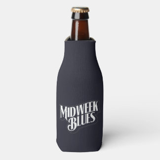 Porta-garrafa Suporte de garrafa dos azuis do meio da semana