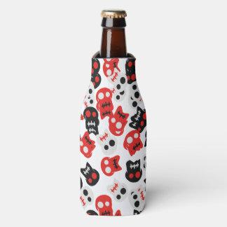 Porta-garrafa Teste padrão colorido do crânio cómico