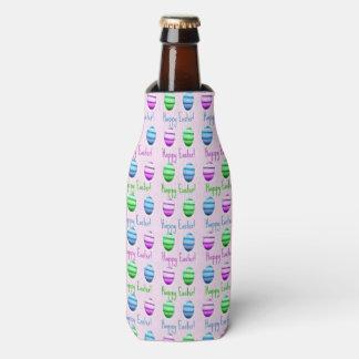 Porta-garrafa Teste padrão colorido dos ovos da páscoa