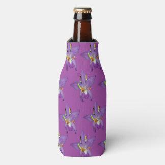 Porta-garrafa Teste padrão espreitando roxo dos sapos,