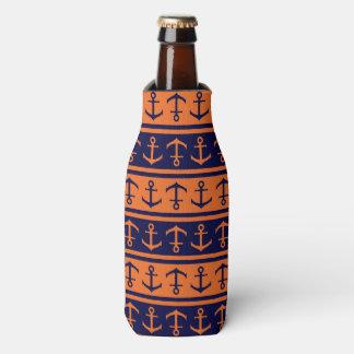Porta-garrafa Teste padrão náutico do Dia das Bruxas