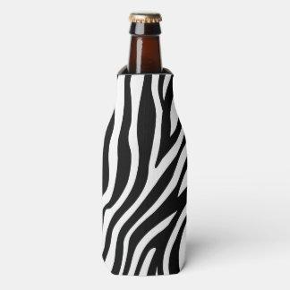 Porta-garrafa Teste padrão preto e branco das listras do
