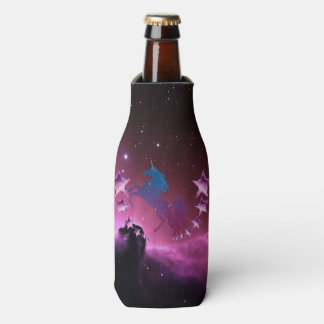 Porta-garrafa Unicórnio com estrelas