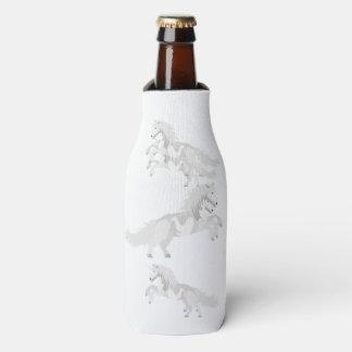 Porta-garrafa Unicórnio do branco da ilustração