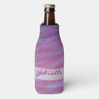 Porta-garrafa Zebra roxa do rosa adaptável do monograma do bar |