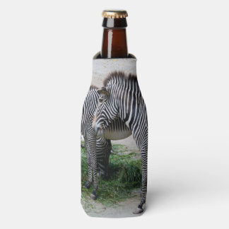 Porta-garrafa Zebras no jardim zoológico