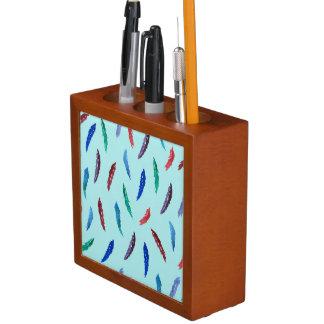 Porta Lápis A aguarela empluma-se o organizador da mesa