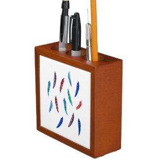 Porta-lápis A aguarela empluma-se o organizador da mesa