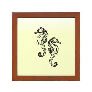 Porta Lápis Amarelo dos cavalos marinhos
