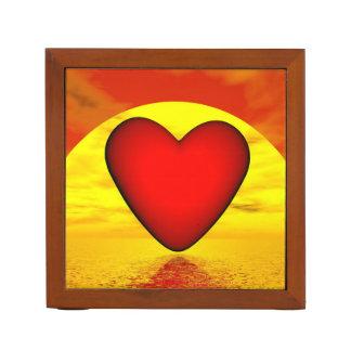 Porta Lápis Amor pelo por do sol - 3D rendem