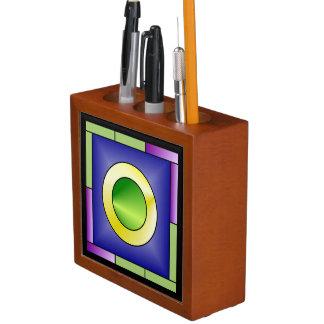 Porta-lápis Art deco do mundo de Minimalistic