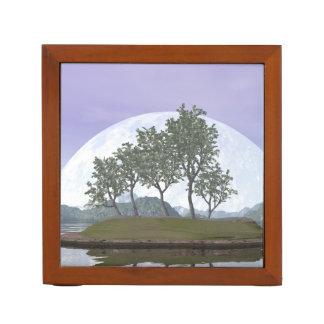 Porta Lápis Árvore com folhas lisa dos bonsais do olmo - 3D
