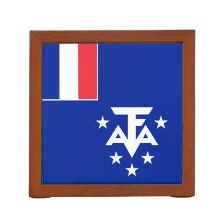 Porta-lápis Bandeira do sul e antárctica francesa das terras