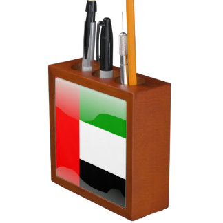 Porta Lápis Bandeira lustrosa de United Arab Emirates