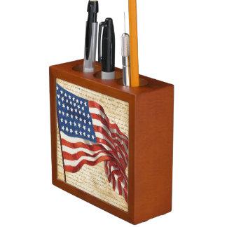 Porta-lápis Bandeira star spangled