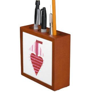 Porta-lápis Barco de Loveheart nenhum organizador da mesa do