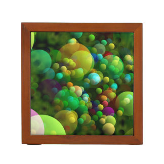 Porta-lápis Bolhas esverdeados